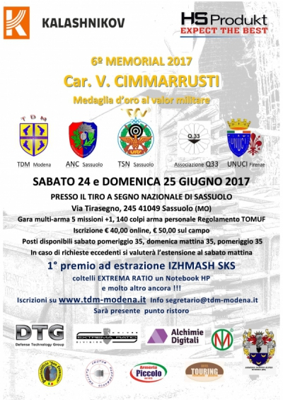 6° Memorial Car. V.Cimmarrusti m.o.v.m. 2017